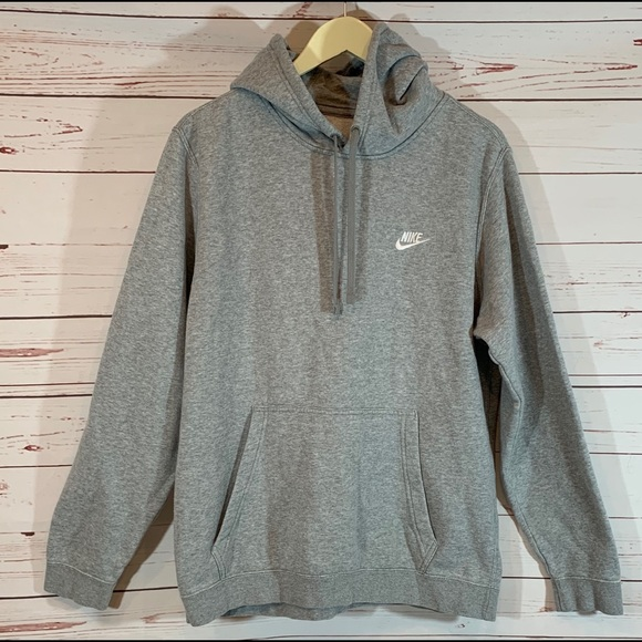 newest d2015 ed1a4 Men's Nike Hooded Pullover Sweat Shirt Gray Large